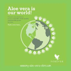 Aloe Vera is our world and our world is Aloe Vera - FOREVER! Great range of health drinks, nutritional supplements and skincare - find them all via this link: www.my-aloe-vera-store.com