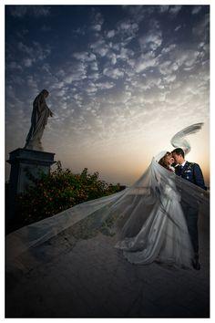 Matrimonio al Colle Sant'Alfonso ,Italia .Velo della sposa #wedding #fotografocollesantalfonso #colesantalfonso #bride #marriage #bridalveil #veil #groominuniform