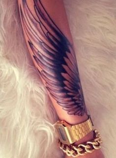 Wing forearm tattoo - 35 Breathtaking Wings Tattoo Designs | Art and Design
