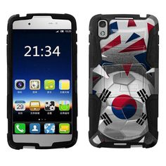 Alcatel IDOL 4S Armor Hybrid Case - Soccer Ball Korea Flag