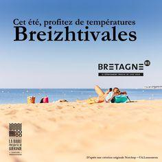 """Découvrez toutes les appropriations des acteurs du tourisme bretons dans le cadre de la campagne """"Dépaysez Vous en Bretagne"""".  Création : OT La Baule - Presqu'île de Guérande  #DepaysezVousEnBretagne Frames, Rural Area, Brittany, Tourism"""