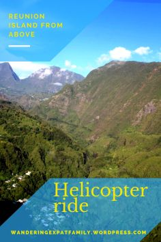 View from the helicopter over Reunion Island