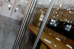 Meeting rooms, open plan office interior at Delete Leeds | by Redesign