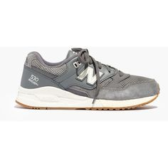MADEWELL New Balance® 530 Sneakers (545 DKK) ❤ liked on Polyvore featuring shoes, sneakers, grey, madewell, gray sneakers, madewell shoes, rubber sole shoes and suede sneakers