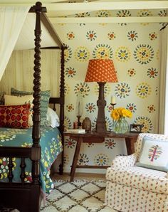 Interior Exterior, Interior Design, Spindle Bed, Sweet Home, Terrazzo Tile, Best Decor, Layout, Home Bedroom, Bedroom Ideas