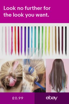 209b4d3229065 Hot Long Straight Rainbow Colourful Clip In Hair Extension Hairpiece Cosplay