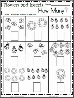 Printable Worksheets for Kindergarten Numbers 2 for Spring Insects Free Math Worksheet for Counting to 9 – All The Shops Online Free Kindergarten Worksheets, Writing Worksheets, Kindergarten Writing, Preschool Math, Printable Worksheets, Kindergarten Curriculum, Addition Worksheets, Kids Worksheets, Number Worksheets