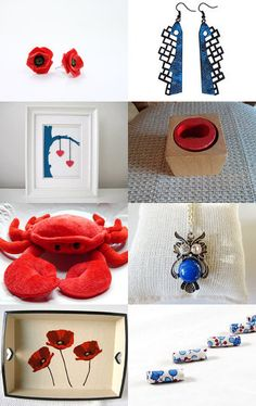 blue and red by hanna orr on Etsy--Pinned with TreasuryPin.com
