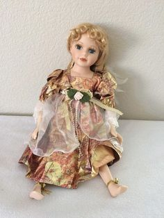 Vintage Wondertreats Porcelain Doll  Blonde Hair Blue Eyes