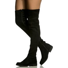 """""""The perfect pair to complete your Fall looks! This pair features a faux suede material, thigh high length, round toe cut, side zipper for closure and cushione…"""