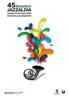 San Sebastian's Jazz Festival poster 2010