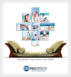 Canvas Gallery Wrap Groupings. Professional Photographer Inspiration.