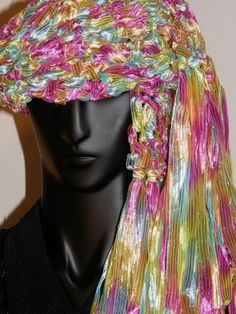 Fancy Ribbon Scarf Pink Blue Yellow Spring by mcleodhandcraftgifts