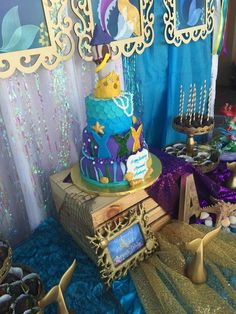 What a lovely mermaid birthday party! See more party ideas at CatchMyParty.com!