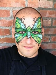 Ronnie Mena Art. Butterfly face painting. Awesome as always
