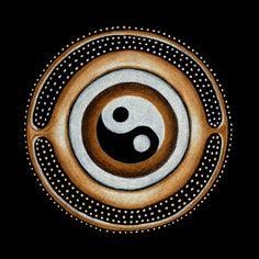 """Yin-Yang: Vše je jak Yin (přijímající ženská energie) tak Yang (expanzivní mužská energie). Tečky uvnitř obou polovin Taoistického symbolu reprezentují aspekt svých protikladů. // Everything is both Yin (receptive feminine energy) and Yang (expansive masculine energy). The dots within the Taoist symbol represent aspects of each other. The sacral chakra embodies the energy of Taoism; for it balances the feminine and masculine within us. Tao, (""""the way"""") embodies the harmony of opposites."""