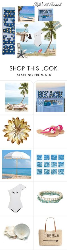 """Seaside"" by vain-vanny ❤ liked on Polyvore featuring Improvements, Frankford, William Stafford, Lisa Marie Fernandez, Fox Run and Style & Co."