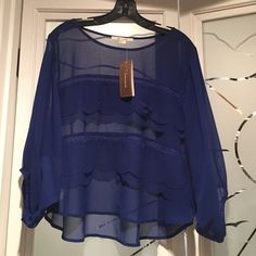 "A beautiful royal blouse Francesca""s NWT Awesome top Francesca's Collections Tops Blouses"