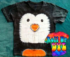 Penguin Tie Dye T shirt for kids by ROLLUPNDYE on Etsy, $26.00