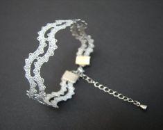 NUOVO | Onda pizzo braccialetto | | Bracciale minimalista estate pizzo | Gioielli fatti a mano merletto a fuselli