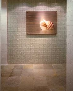 Marble floor and custom wall tiles