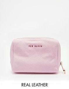 89ababde827f Ted Baker Leather Make Up Bag at asos.com