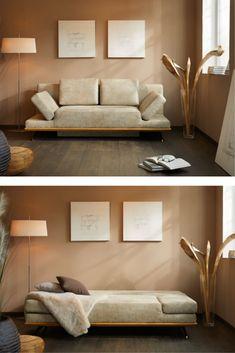 Ob #relaxen #sitzen oder #schlafen, das #Schlafsofa aus unserer Kollektion TESSIN macht alles mit uns sieht dabei so richtig stylisch aus. Lasst Euch auf unserer Webseite von unseren #Schlafsofas inspirieren.   #schlafen #couchtime #sofatime #sofas #sofabed sofamodern #sofadesign #zuhausesein #naturliebe #interior #wohnen #wohnideen #madeingermany #querschläfer #ausziehcouch  #querschläfer Sofa Design, Couch, Modern, Furniture, Home Decor, Website, Ad Home, Settee, Trendy Tree