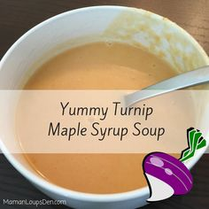 """You know what would never appeal to me? Turnip and maple syrup soup. Luckily, I tasted it before I knew what it was. It is DELICIOUS. My fuss pot kid even agrees, declaring, """"Good! Soup!"""" Ingredients are inexpensive and healthy… and my favourite thing is not having to cut the veggies all pretty because they …"""