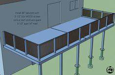 Diy Attached Deck Plans Step 11 Deckbuildingplans