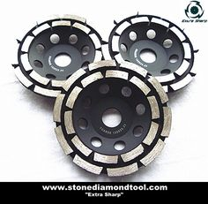 Double Cup Wheels thread or thread Concrete Pad, Mold Making, Grinding, Diamond, Wheels, Tools, Logo, Stone, Instruments