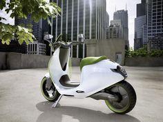 Le design se joue sur des détails : regardez la béquille du prototype du scooter électrique Smart. Lire l'article > http://leblogduscooter.fr/scooter-electrique-smart