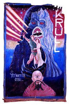 Krull - Ghana handmade film poster