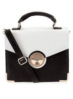 New Look two-tone satchel