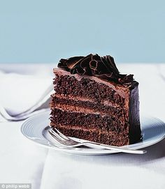 Truly scrumptious: Chocolate mousse layer cake http://www.dailymail.co.uk/femail/food/article-2199382/Hello-sweeties-Chocolate-mousse-layer-cake.html#