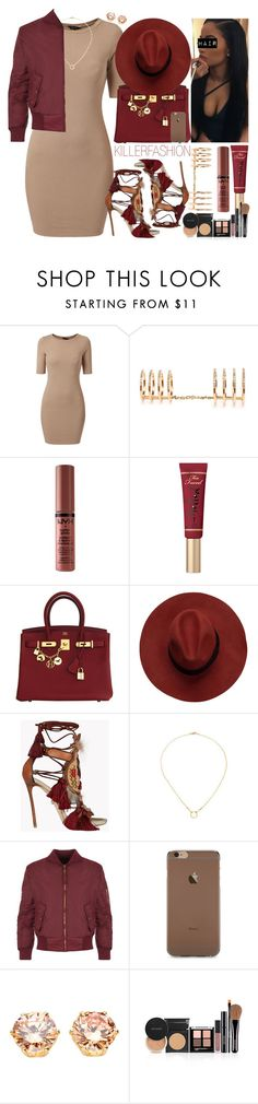 """01.30.2016"" by killerfashion ❤ liked on Polyvore featuring Woodbury, NYX, Too Faced Cosmetics, Hermès, Dsquared2, Dogeared and WearAll"