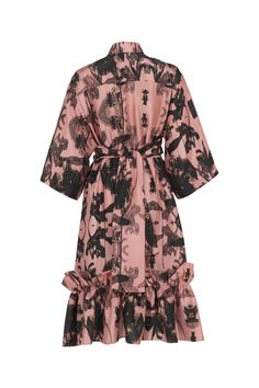 Short Pink Concrete Spring Resort, Black Flowers, Travel Wardrobe, Shirt Sleeves, Concrete, Shirt Dress, Floral, Pink, Shirts