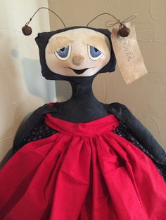 Handmade Ladybug Doll by primcountrycreations on Etsy