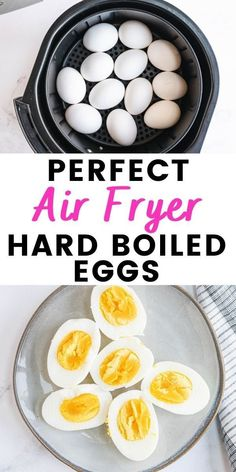 Once you make Air Fryer Hard Boiled Eggs, you will never go back! They are quick to make and peel like a dream - perfect for meal prep! Great for breakfast, a mid afternoon snack, or as part of a dinner time salad, you really can't go wrong with this protein packed recipe! 21 Day Fix Breakfast, Clean Eating Breakfast, Healthy Breakfast Recipes, Clean Eating Recipes, Cooking Recipes, Mid Afternoon, Afternoon Snacks, Hard Boiled Egg Recipes, Air Fryer Oven Recipes