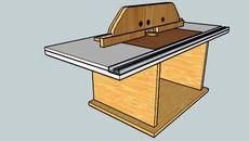 3D Model of Mesa de Bancada para Tupia Manual