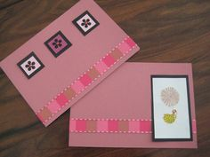Home made cards with stickers