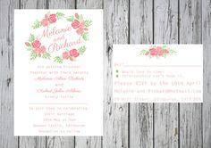 Pink Bloom Invitation Sets By Paper Delights www.weddingstationery.co.uk