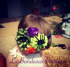 Sweet and Spooky Satin Halloween Couture by LaBandeauxBowtique