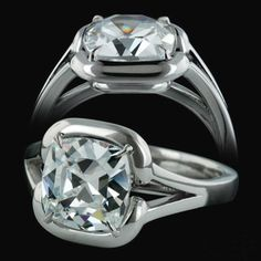 contemporary wedding rings for women | proof that modern engagement rings are not without bling! The ring ...