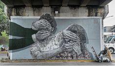 """street art Himed, """"Adoctrinamiento"""" in Guadalajara, Mexico"""