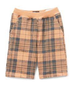 NANO Orange & Gray Plaid Shorts - Infant, Toddler & Boys | zulily