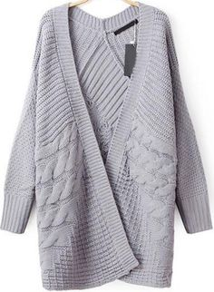 To find out about the Grey Long Sleeve Cable Knit Cardigan at SHEIN, part of our latest Sweaters ready to shop online today! Cable Knit Cardigan, Grey Cardigan, Slouchy Sweater, Knit Jacket, Loose Fitting Tops, Loose Tops, Long Sleeve Sweater, Batwing Sleeve, Cardigans For Women