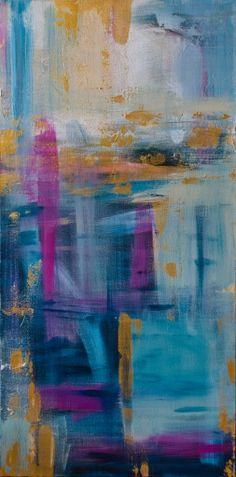 """Original Abstract Painting by Kellie Morley  """"A Night in Paris"""""""