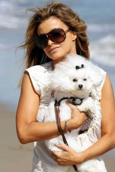 Favorite celebrities with their dogs!       #celebrities  #dogs    http://www.petrashop.com/