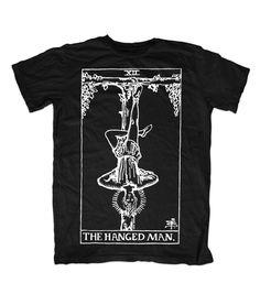 The Hanged Man // tarot card t-shirt // all black everything