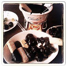 Chocolate fondue & Lavander